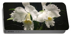 Two White Orchids Portable Battery Charger