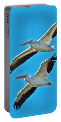 Two White Pelicans Portable Battery Charger