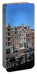 Typical Houses In Amsterdam Portable Battery Charger