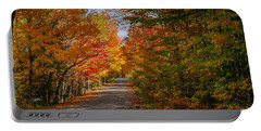 Typical Vermont Dirve - Fall Foliage Portable Battery Charger