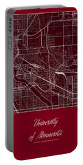 U Of M Street Map - University Of Minnesota Minneapolis Map Portable Battery Charger