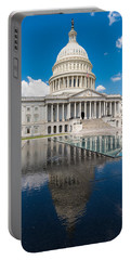 U S Capitol East Front Portable Battery Charger by Steve Gadomski