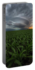 Portable Battery Charger featuring the photograph UFO by Aaron J Groen