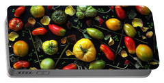 Heirloom Tomato Patterns Portable Battery Charger