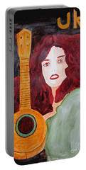 Portable Battery Charger featuring the painting Uke by Sandy McIntire