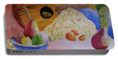 Portable Battery Charger featuring the painting Ukelele by Beverley Harper Tinsley