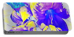 Portable Battery Charger featuring the photograph Ultraviolet Daylilies by Shawna Rowe