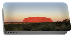 Uluru At Sunset Portable Battery Charger