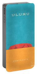 Uluru Ayers Rock Retro Tourism Portable Battery Charger