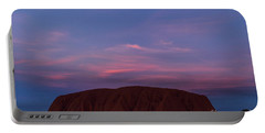 Portable Battery Charger featuring the photograph Uluru Sunset 04 by Werner Padarin