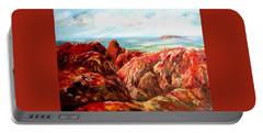 Uluru Viewed From Kata Tjuta Portable Battery Charger