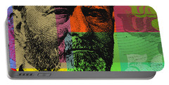 Portable Battery Charger featuring the digital art Ulysses S. Grant - $50 Bill by Jean luc Comperat