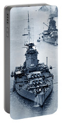 Hms Nelson And Hms Rodney Battleships And Battlecruisers Hms Hood Circa 1941 Portable Battery Charger
