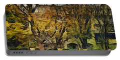 Un Cheteau Dans Le Paradis - Two Of Two  Portable Battery Charger by Sir Josef - Social Critic -  Maha Art