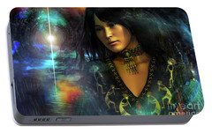 Portable Battery Charger featuring the digital art Una   ...   Remember by Shadowlea Is