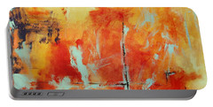 Portable Battery Charger featuring the painting Uncharted Destination by M Diane Bonaparte