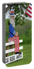 Portable Battery Charger featuring the photograph Uncle Sam Patriotic Flag by Betty Denise