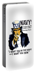 Uncle Sam Wants You In The Navy Portable Battery Charger