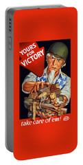 Uncle Sam - Yours For Victory Portable Battery Charger