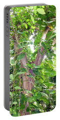 Portable Battery Charger featuring the photograph Under A Tropical Tree With Vines by Francesca Mackenney