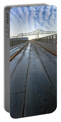 Under Astoria Megler Bridge On Riverwalk Portable Battery Charger