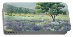 Under Blue Skies In Lavender Fields Portable Battery Charger