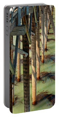Portable Battery Charger featuring the photograph Under San Simeon Pier by Art Block Collections