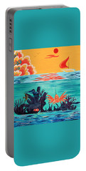 Bright Coral Reef Portable Battery Charger