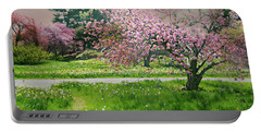 Portable Battery Charger featuring the photograph Under The Cherry Tree by Diana Angstadt
