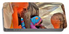 Under The Elephant - Narmada Temple At Arkantak India Portable Battery Charger