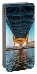 Portable Battery Charger featuring the photograph Under The Hoan by Randy Scherkenbach