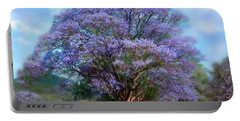 Under The Jacaranda Portable Battery Charger by Carol Cavalaris