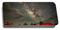 Under The Milky Way Portable Battery Charger by Anne Rodkin