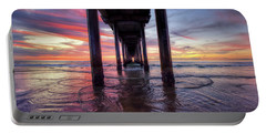 Under The Pier Sunset Portable Battery Charger