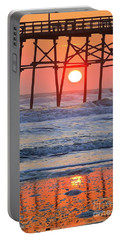 Under The Pier - Sunset Portable Battery Charger by Shelia Kempf