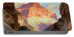 Under The Red Wall Portable Battery Charger by Thomas Moran