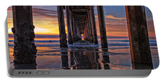 Under The Scripps Pier Portable Battery Charger by Sam Antonio Photography