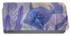 Portable Battery Charger featuring the photograph Under The Sea Colorful Watercolor Art #8 by Debra and Dave Vanderlaan