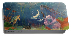 Under The Sea Portable Battery Charger by Denise Tomasura