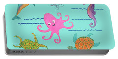 Under The Sea, Pink Octopus Portable Battery Charger