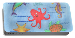 Under The Sea, Red Octopus Portable Battery Charger