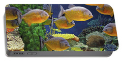 Portable Battery Charger featuring the photograph Under The Seen World 5 by Lynda Lehmann