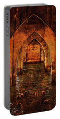 Under The Siuslaw River Bridge Portable Battery Charger by Thom Zehrfeld
