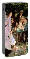 Under The Trees Of The Moulin De La Galette Portable Battery Charger