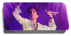 Underneath The Purple Rain Portable Battery Charger