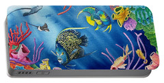 Undersea Garden Portable Battery Charger by Gale Cochran-Smith