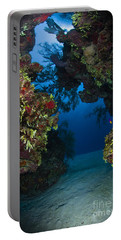 Underwater Crevice Through A Coral Portable Battery Charger