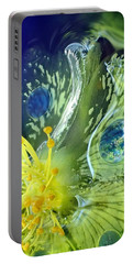 Underwater Flower Abstraction 1 Portable Battery Charger