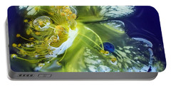 Underwater Flower Abstraction 2 Portable Battery Charger