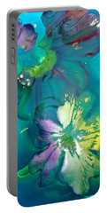 Underwater Flower Abstraction 3 Portable Battery Charger